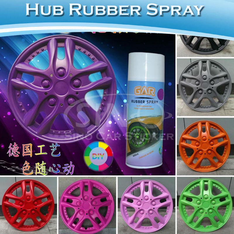 Removable Purple Car Spray Paint / Rubber Spray For Car Wheels