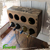 Shabby Chic Custom Portable Wooden Wine Storage Rack,Vintage Handmade Metal Wine Display Stand,Champagne Wood Wine Bottle Holder