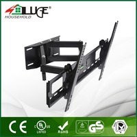 Wide screen support folding retractable cold steel articulating led lcd rotation tv wall mount bracket for led lcd lg tv