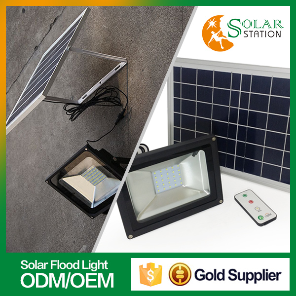 Solar station hot sale waterproof portable led outdoor flood light
