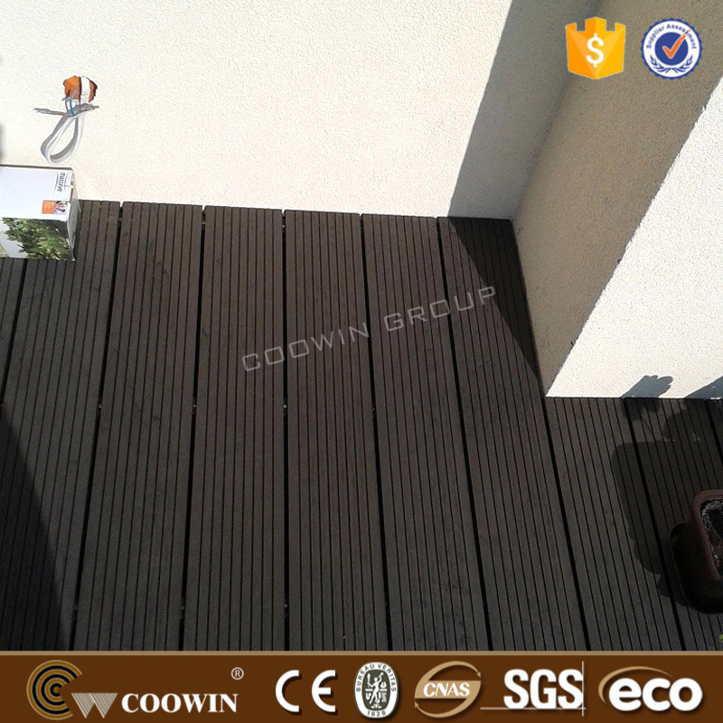 black wood plastic composite decking board sizes