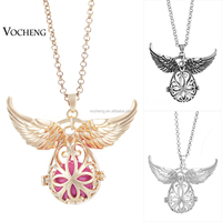 10pcs/lot Chime Mexico Ball Pendant for Women Brand Design Angel Wing Pendant Necklace Hollow Jewelry (VA-098) Free Shipping