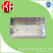 BS4662 pre-galvanized metal steel electric switch box