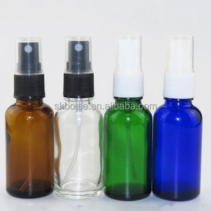 amber clear blue green 30ml boston glass bottle with spray cap for e liquid glass bottle