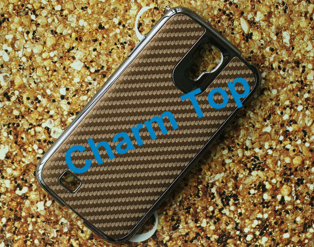 For Samsung Galaxy i9500 Carbon Fiber Leather Case