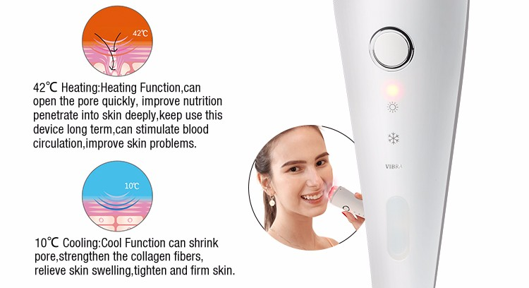 5 IN 1 Heating Cooling Beauty Equipment Skin Tightening Facial Massager