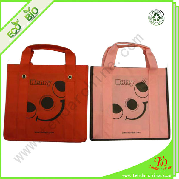 Non-Woven Tote Bag Silk Screen Printing Shopping Tote Bag With Logo