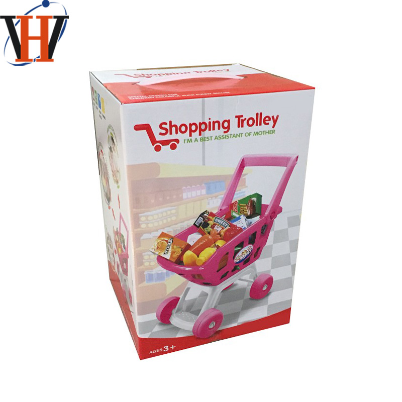Baby toy plastic supermarket shopping carts pretend play toy