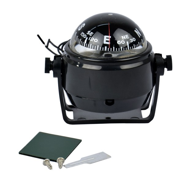 Free Shipping New Sea Marine Electronic Digital Compass Boat Caravan Truck 12V LED Light Black