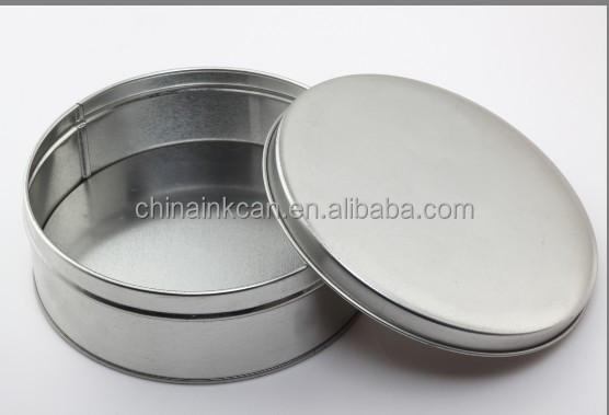 Customized Embossed round Tin can metal Package , Empty Tin Containers Without hinge