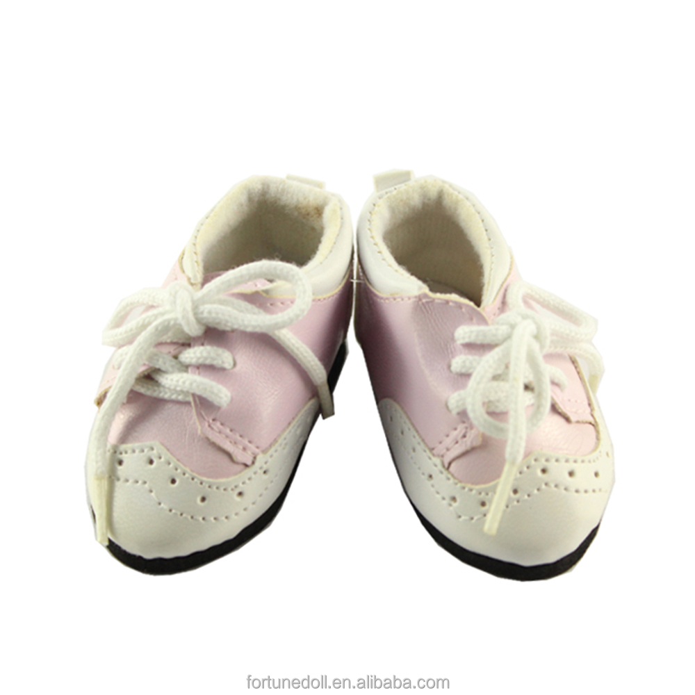 JC029-doll shoes- 18 inch american girls doll light pink sport shoes-wholesale doll clothes