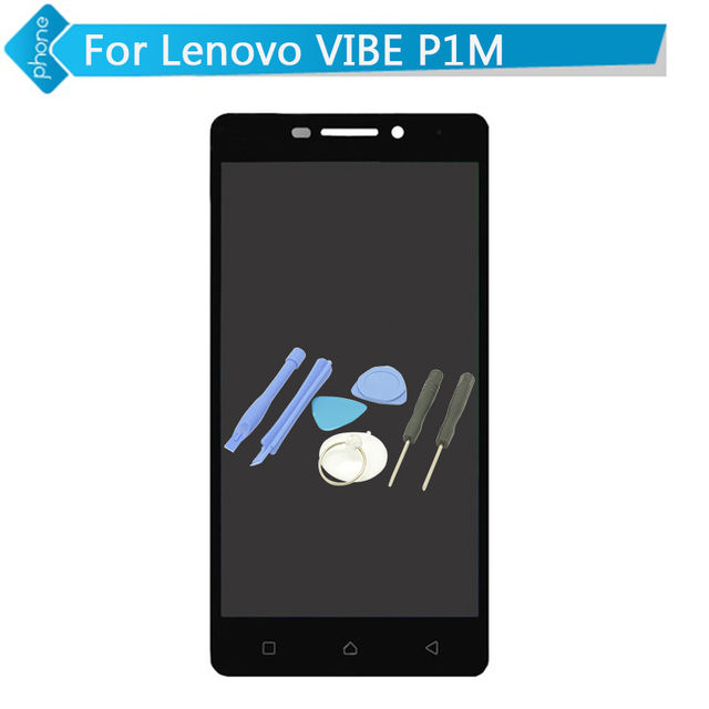 Black White For Lenovo VIBE P1M LCD Display Touch Screen Digitizer Assembly + Tools