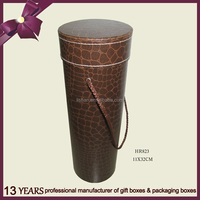 High Quality Custom Round Paper Wine Box Carrier/Wine Gift Box