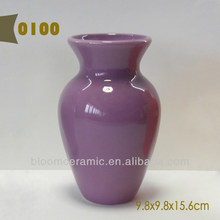 Ceramic purple vase for flowers arranging