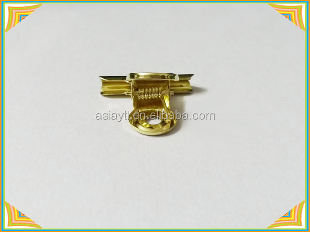 good quality golden surface treatment metal bulldog clip 30mm