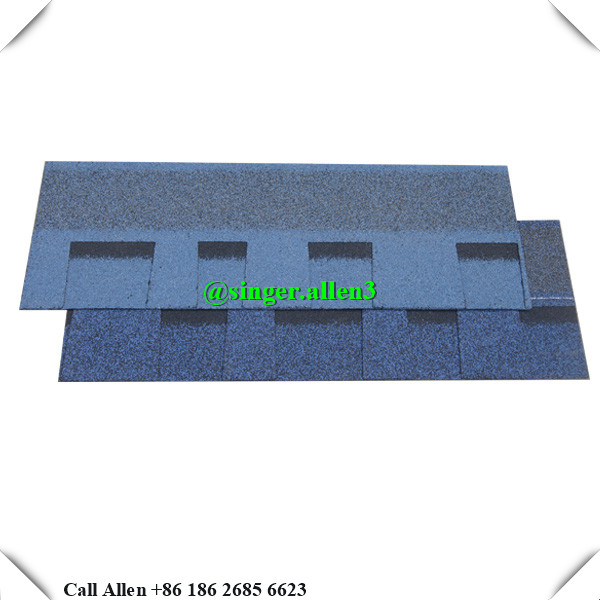 Bituminous asphalt shingles / Colorful blue Laminated Fiberglass Asphalt Roof Shingles