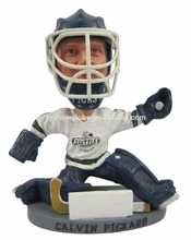 Ice hockey goalie Calvin Pickard bobble head figurines