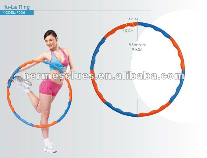 Sale to Japan fitness and exercise goods wave foam hula hoop ring