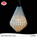 Holiday lighting origami craft Ivory board paper lantern
