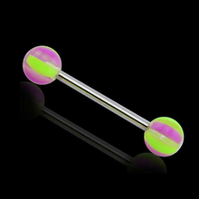 Surgical Steel Straight Barbell Acrylic Ball Magnetic Industrial Ear Piercing
