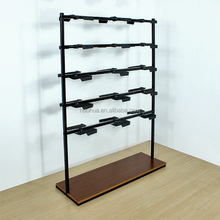 Huohua adjustable commercial hot sale metal customized shoe shop <strong>shelves</strong>