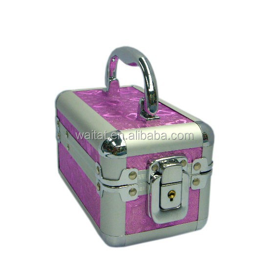 2015 The Cube Ingenious Pink Aluminum Cosmetic Box