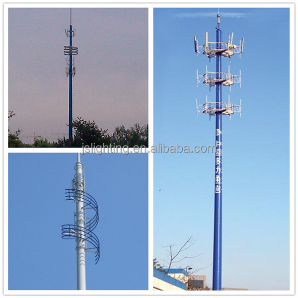 10m electric galvanized steel monopole tower,telecommunication steel monopole tower,galvanized monopole