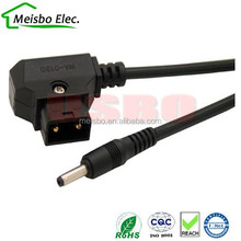 D-Tap Male to DC 3.5*1.35mm Cable for DSLR Rig power supply cable