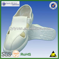 [LOW PRICE HIGH QUALITY] 4 hole cleanroom esd shoes PU shoes antistatic