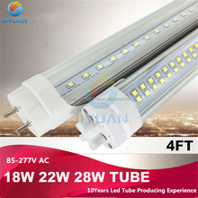 Competitive price integrative connection 120 degree beam angle 2400mm smd2835 led tube t8 44w with CE ROHS approved