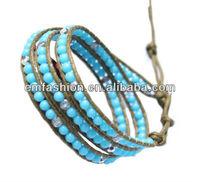 Fashion wholesale cheap 3 rolls plastic beads friendship bracelet