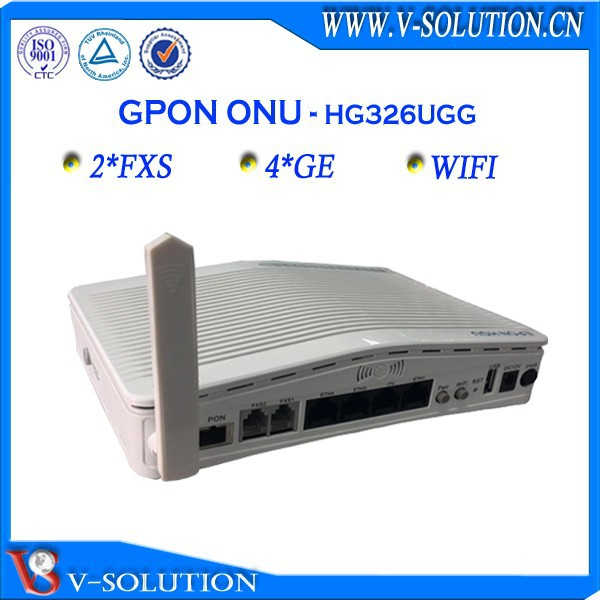 Gpon fiber optic 4ge voip wifi onu set top box with 2fxs