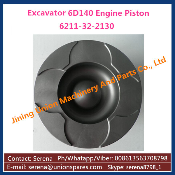 Engine Piston for Komatsu S6D140 Diesel Engine Cast Iron Piston 6211-32-2130