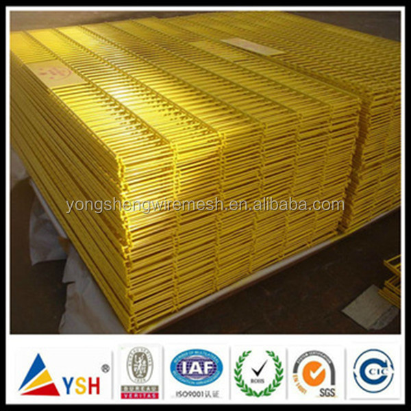 High Quality 3.5mm Yellow PVC Coated Welded Wire Mesh Panel For Fence(Really Factory)
