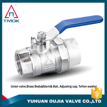 brass ball valve with butterfly handle full port three way NPT threaded connection with polishing plating PPR pipe fitting