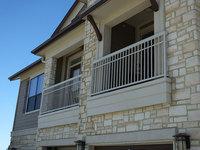 High Security Exterior ornamental wrought iron balcony railings