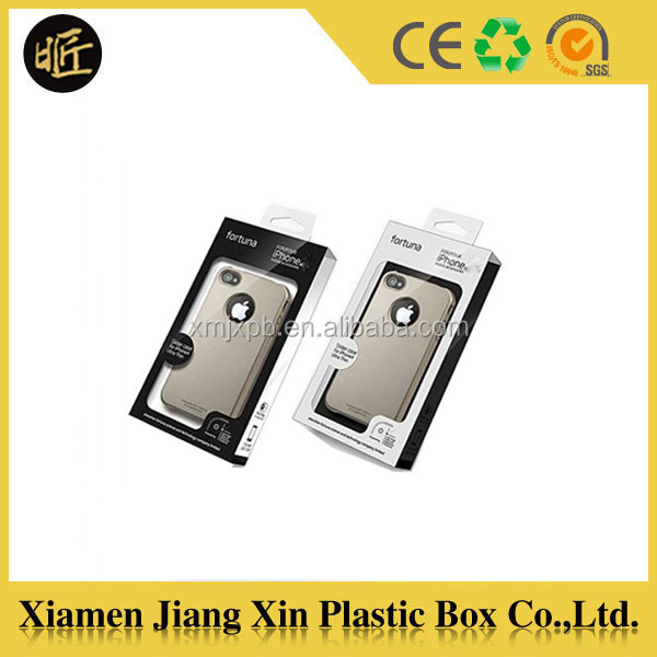 Customized plastic cell phone case blister packaging