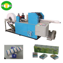 manufacture high speed folding handkerchief tissue equipment high production cutting mini face paper machine