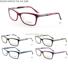 fashion glasses frame, acetate eyewear with subtle metal decorations
