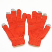 elastic cuff outdoor gloves for touch screen