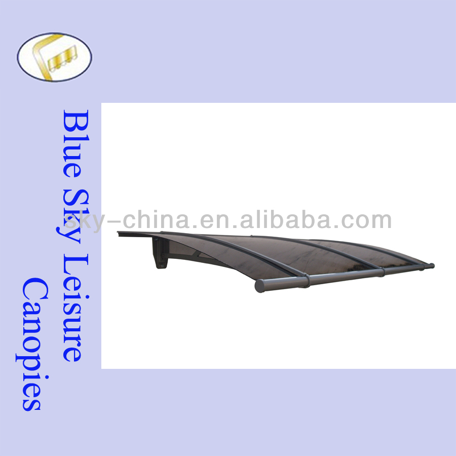 1.5*0.95M PC roofing metal frame balcony canopy