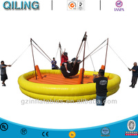Inflatable sport games Bungee Bull