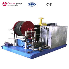 High pressure water jet drain cleaning washer triplex plunger pump for spunlace nonwoven