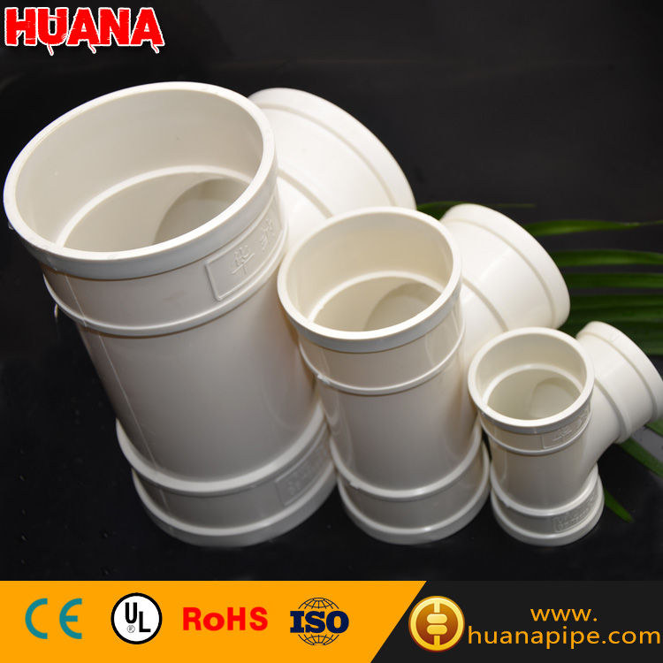 factory price plastic pipe connectors 1 pvc pipe fittings tee