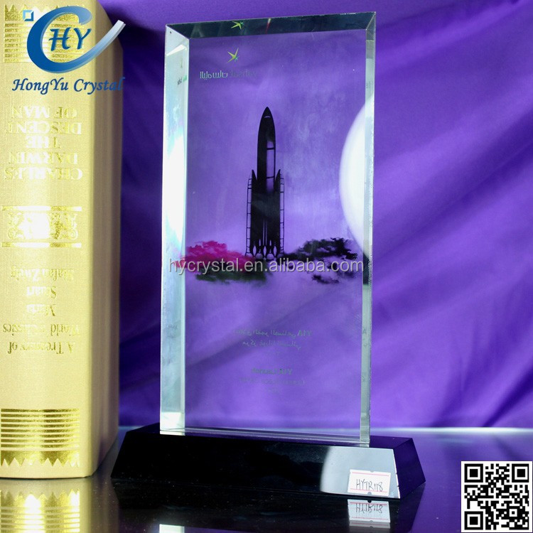 2017 new acrylic glass crystal trophy award souvenirs products in dubai