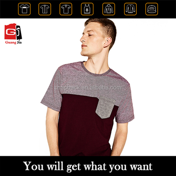 Garment Manufacturer In China Custom Clothing Mens T-shirt With Pocket