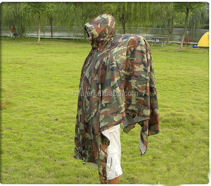 outdoor raincoat military poncho
