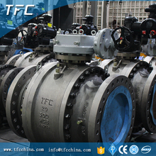 A105 carbon steel 24 inch modulating electric valve, electric motor operated ball valve