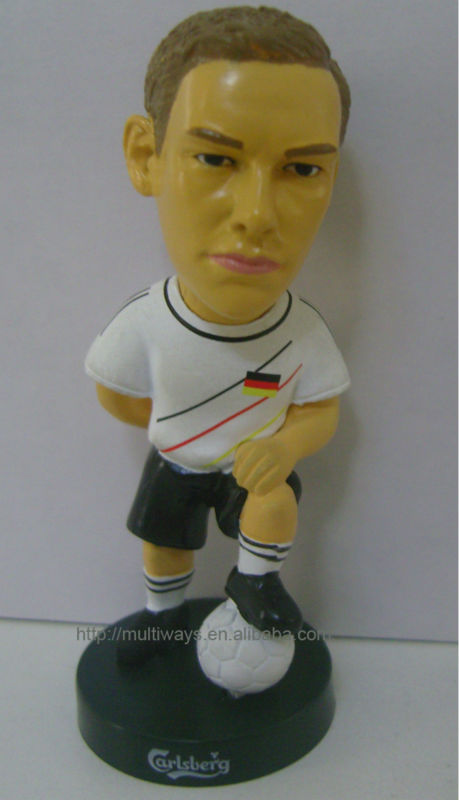 Custom miniature soccer player figures,world cup gift football player action figures,collectible mini plastic football figures