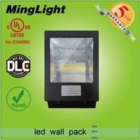 2015 hot sale 5 years warranty Meanwell driver&Samsung chips IP65 DLC UL listed outdoor 40W led wall pack light